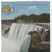 American Falls of Niagara from Goat Island Niagara Falls NY New York Vintage Postcard