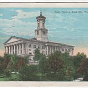 State Capitol Nashville TN Tennessee Vintage Postcard