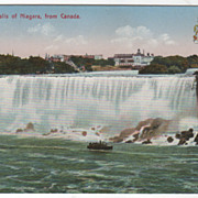 American Falls of Niagara from Canada Niagara Falls Ontario Canada Vintage Postcard