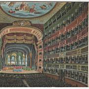 Napoli Italy R Teatro S Carlo Vintage Postcard