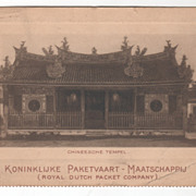 Chinese Temple (Chineesche Tempel) Royal Dutch packet Company Vintage Postcard