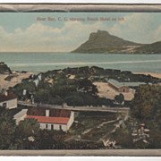 Hout Bay C C Showing Beach Hotel at Left South Africa Vintage Postcard