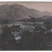 Loch Achray and Ben Venue Scotland Vintage Postcard