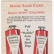Helen Dawn Toiletries 427 W Randolph St Chicago Magic Sales Card Brochure