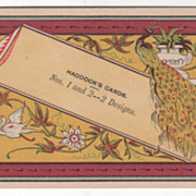 Haddock's Cards Nos. 1 and 2 - 2 Designs No Specific Place Victorian Trade Card