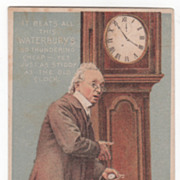 Waterbury Watches J G Badger Jeweler Concord Inc State Victorian Trade Card