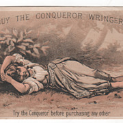 Conqueror Wringer John A Powers Milford NH New Hampshire Victorian Trade Card A