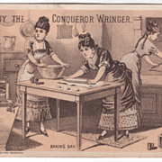 Conqueror Wringer John A Powers Milford NH New Hampshire Victorian Trade Card C