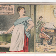 David's Prize Soap 185 & 187 1st Ave NYC NY New York Victorian Trade Card A