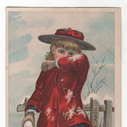 Muzzy's Corn Starch Muzzy Starch Co Elkhart IN Indiana Victorian Trade Card