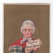 J & P Coats Best Six Cord Spool Cotton Victorian Trade Card