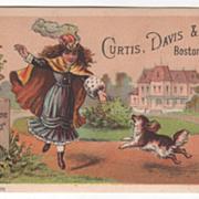 Welcome Soap Curtis Davis & Co Boston MA Massachusetts Victorian Trade Card D