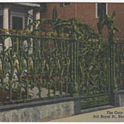 The Corn Fence 915 Royal Street New Orleans LA Louisiana Vintage Postcard