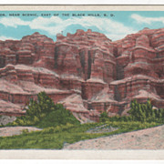 Bad Lands near Scenic East of the Black Hills SD South Dakota Vintage Postcard