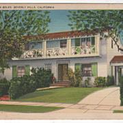 Home of John Boles Beverly Hills CA California Vintage Postcard