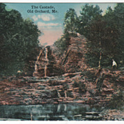 The Cascade Old Orchard ME Maine Vintage Postcard