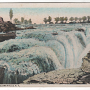 The Falls Glens Falls NY New York Vintage Postcard