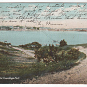 Gloucester MA Massachusetts from Stage Fort Vintage Postcard
