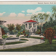 Spencer Square Rock Island IL Illinois Vintage Postcard