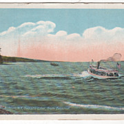 Auburn NY New York Owasco Lake from Ensenor Vintage Postcard