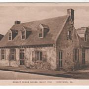 Dudley Diggs House Built 1705 Yorktown VA Virginia Vintage Postcard