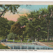 View of Stadium Park in Canton Park Development Canto OH Ohio Vintage Postcard