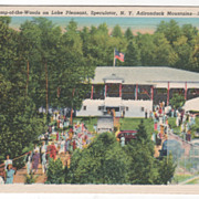 Auditorium Camp-of-the-Woods Speculator NY New York Adirondacks Vintage Postcard