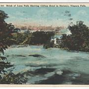 Brink of Luna Falls Niagara Falls NY New York Vintage Postcard