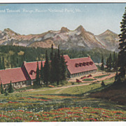 Paradise Inn and Tatoosh Range Ranier National Park WA Washington Vintage Postcard
