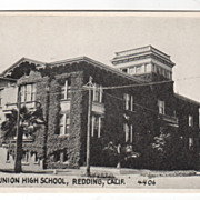 Shasta Union High School Redding CA California Vintage Postcard