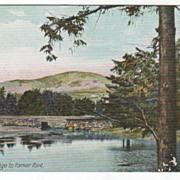 Bluehill ME Maine Bridge to Parker Point Vintage Postcard