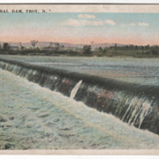 The Federal Dam Troy NY New York Vintage Postcard