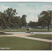Bangor ME Maine Chapin Park Vintage Postcard