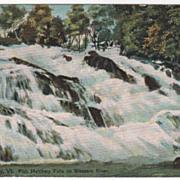 St Johnsbury VT Vermont Fish Hatchery Falls at Sleepers River Vintage Postcard