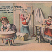 Thoesen & Uhl Furniture Carpets Etc 251 253 1st Ave NYC NY Victorian Trade Card