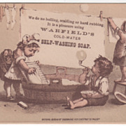 Warfield's Cold-Water Self-Washing Soap Day & Frick Philadelphia Victorian Trade Card