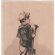 The Conqueror Wringer H S Harris & Co Dealer Boston MA Victorian Trade Card