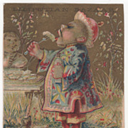 Best & Co Children's Clothing 315 Sixth Avenue NYC NY Victorian Trade Card