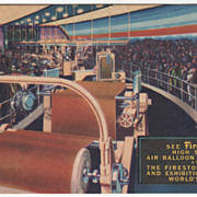 SOLD Interior of Firestone Factory 1939 New York World's Fair Vintage Postcard