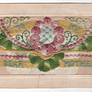 """Mother's Day """"Dear Mother"""" """"In Loving Remembrance"""" Silk Thread Vintage Pos"""