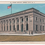 Post Office Jersey City NJ New Jersey Vintage Postcard