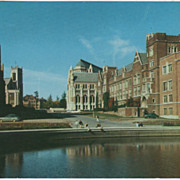 University of Washington Campus Seattle WA Washington Vintage Postcard