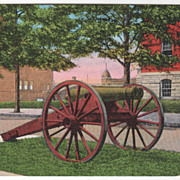 Only Double Barreled Cannon in World Athens GA Georgia Vintage Postcard