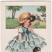"SOLD Girl with Dog on Leash ""To My Valentine"" Valentine Vintage Postcard"