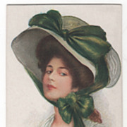 "Artist Signed Archie Gunn ""Imogene"" Glamour Lady Vintage Card"