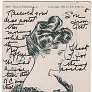 "Artist Signed Charles Dana Gibson Glamour Lady No 14067 ""Mabel"" Vintage Postcard"