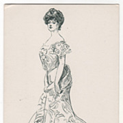 """Artist Signed Charles Dana Gibson No. 14065 """"Gibson's Typical American Girl"""" Vintage"""