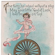 Artist Signed H B Griggs Father Time New Year Babe Vintage New Year Postcard
