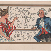 SOLD Artist Signed H B Griggs Washington & Liberty Washington's Birthday Postcard - Red Tag Sa