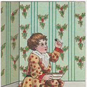 Artist Signed H B Griggs Little Jack Horner Vintage Christmas Postcard
